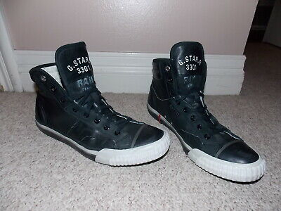G STAR RAW 3301 Leather High Top Shoes