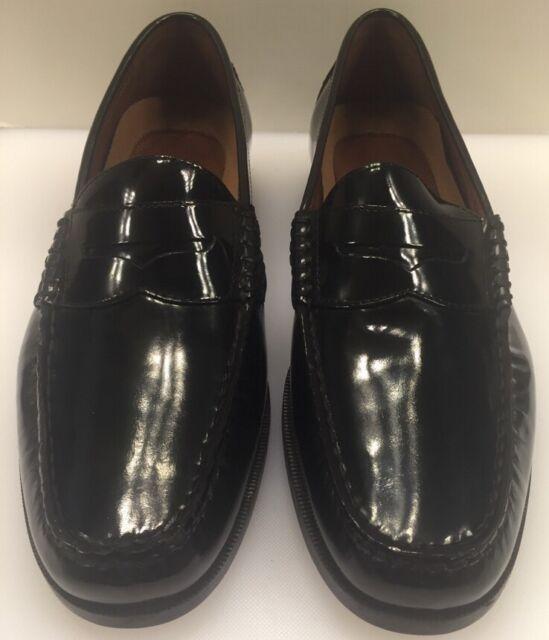 Johnston Murphy Mens Pannell Penny Black Shoes 20 6281 Size 7 M