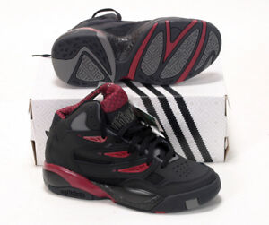 Détails sur Adidas MUTOMBO 2 Originals Mens c75206 Black Bourgogne basket shoes 6.57uk afficher le titre d'origine