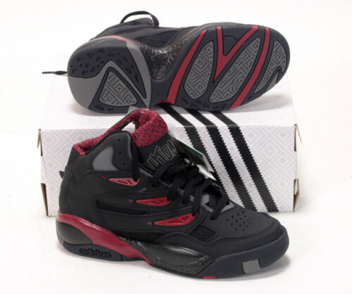 Adidas MUTOMBO 2 Originals Mens c75206 Black Bourgogne basket shoes 6.5/7uk