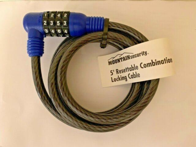 Mini 4-Digit Combination Password Mountain Bike Lock Cable Bicycle Chain Lock