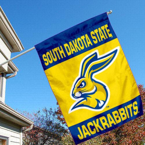 South Dakota State Jackrabbits Two Sided House Flag