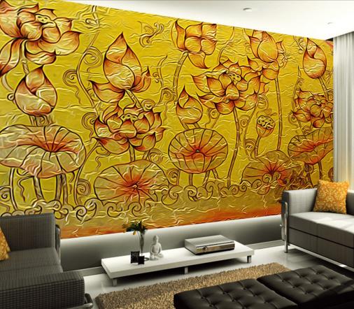 3D 3D 3D Lotus Pool Adorn Wallpaper Murals Wall Print Wallpaper Mural AJ WALL AU Kyra be9df9