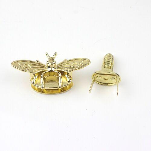 Bee Shape Clasp Turn Lock Metal Hardware For DIY Handbag Purse Shoulder Bag