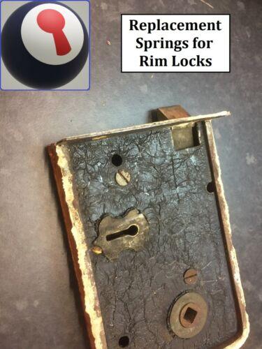 2 sizes 1//4 /& 1//16th enclosed 1st P/&P Feather Rim Lock Springs x 2