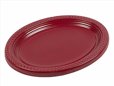 "5, 10, 25, 50, 100 x Disposable 12"" Inch Plastic Oval Food Sandwich Platter Tray"