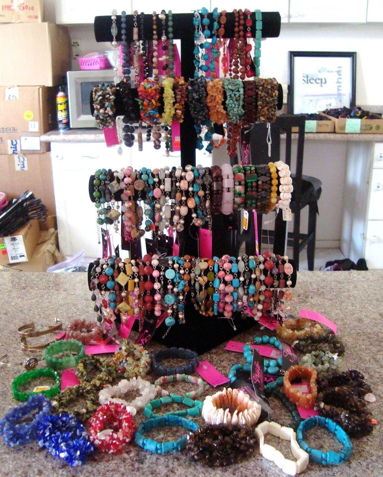 LOT 12 Pcs New Mixed Necklaces Bracelet EARRINGS Hoop Dangle Rings Bangles