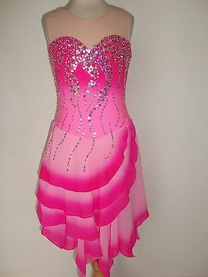 CUSTOM MADE TO FIT NEW FIGURE DANCE ICE SKATING DRESS