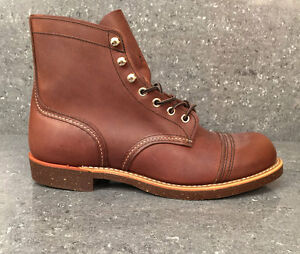 0914d79c5de Details about Red Wing Boots IRON RANGER 8111 Premium Amber Harness Leather  Shoes Brown