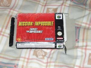 Misión imposible N64 en Caja Con Manual PAL UK