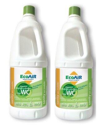 Instancabile Disgregante Sanity 2 Litri Eucalipo Wc Aque Nere Camper Aqua Kem 2 Bottiglie * Fabbricazione Abile
