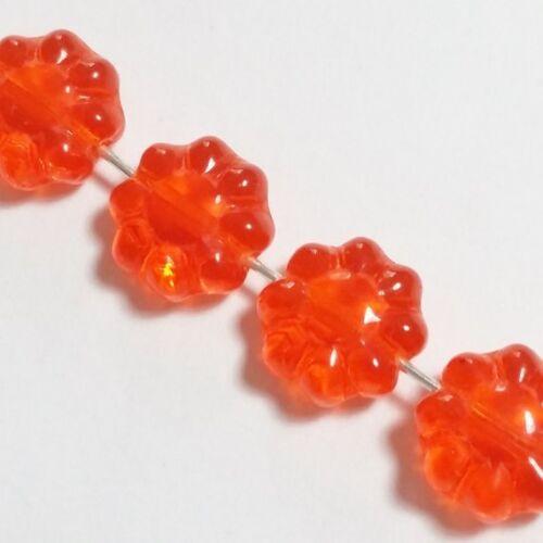 Cuentas checas de vidrio Hawaiano Flor 10 un más colores disponibles