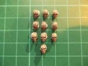 Warhammer 40K 40k bits 20 Human skulls no jaws Base decor
