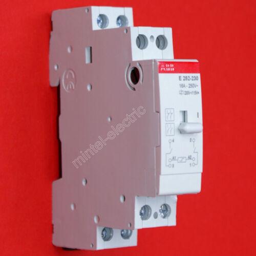 ABB Stromstoßschalter Fernschalter E252-230  2 Schließer 230VAC oder 115VDC