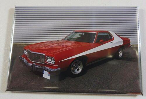 "Magnet Aimant Ford Gran Torino /""Starsky et Hutch/"" Long 78 mm Haut 54 mm Neuf"