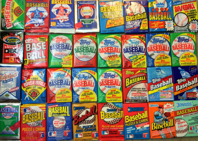 Old Baseball Cards Unopened Packs Fr Wax Box Vintage 45 Card Lot
