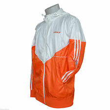 adidas Colorado Shiny  Nylon Windbreaker Jacket Orange White Medium