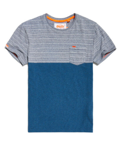 Spinners Mens T Graduate Space Navy New Superdry Stripe Block Dye shirt C0qOddwPx