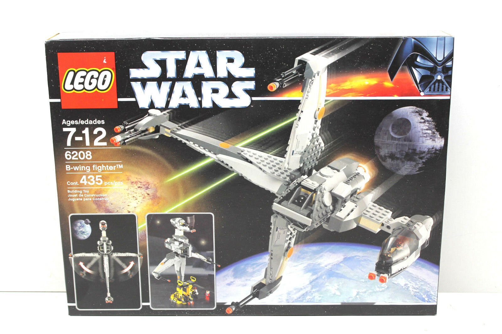 Lego  6208 Star Wars B-Wing Fighter 2007 Factory Sealed 435 pcs Building Toy NIB