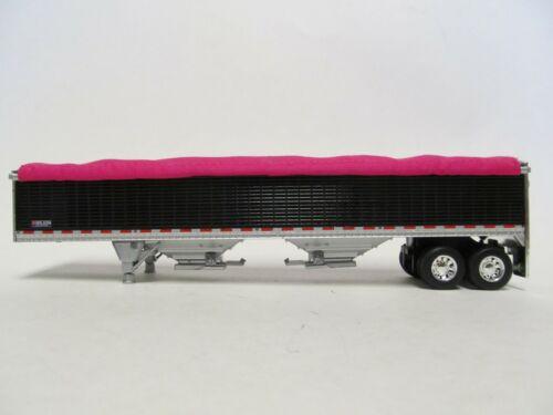 DCP FIRST GEAR 1//64 SCALE WILSON GRAIN TRAILER TALL SIDES PINK TARP BLACK