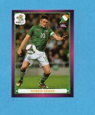 PANINI-EURO 2012-Figurina n.367- KEANE - IRLANDA -NEW-DARK BOARD