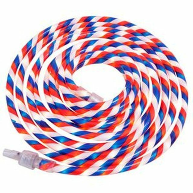 Patriotic red white and blue indoor outdoor rope light 12 feet ebay aloadofball Gallery