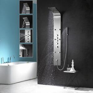 duschpaneel edelstahl duscharmatur mit wasserfall sedal thermostat ebay. Black Bedroom Furniture Sets. Home Design Ideas