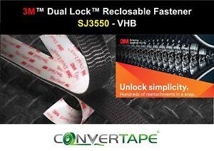 3M-SJ3550-Dual-Lock-Heavy-Duty-Recloseable-VHB-Fastener-25mm-x-1m