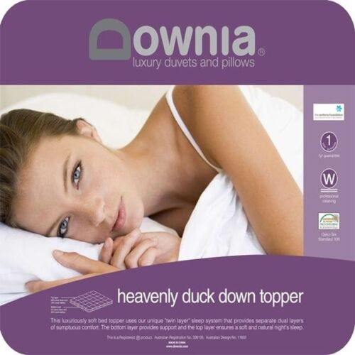 Downia Heavenly Duck Down Luxuriously Soft Bed Mattress Topper-KING Bed RRP $599