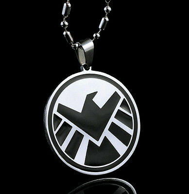 Marvel S.H.I.E.L.D. Super Hero Pendant Chain Steel necklace Fashion Boy Man LZ06