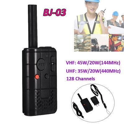 128CH Two Way Handheld VHF UHF Radio Walkie Talkie FM Transceiver 144-440MHz US