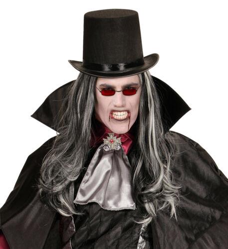Nickelbrille mit roten Gläsern für Halloween und Vampire Vampirbrille