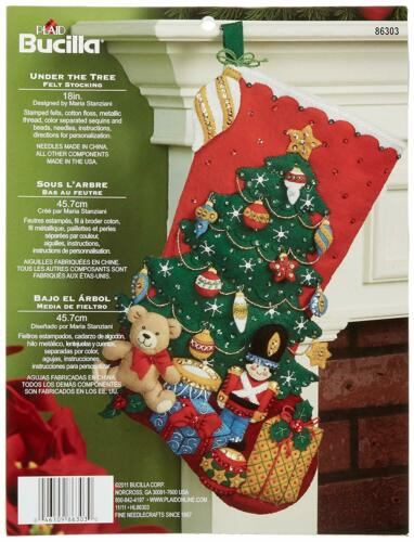 "Under The Tree Holiday Drive Christmas Drive Deer Bucilla 18/"" Felt Stocking Kit"
