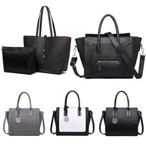 Women-Handbag-Faux-Leather-Snake-Print-Patchwork-Tote-Smile-Shoulder-Ladies-Bag