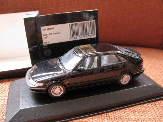 1/43 Minichamps Saab 900 Saloon (2018) Negro Diecast