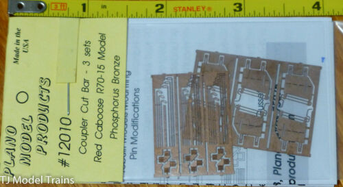 Plano #12010 Etched-Metal Coupler Cut Levers Fits Red Caboose R-70-15 Bars -