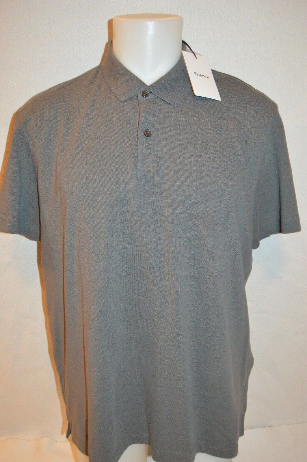 THEORY Man's SANDHURST Button Up Polo T-Shirt  NEW  Größe X-Large  Retail 95