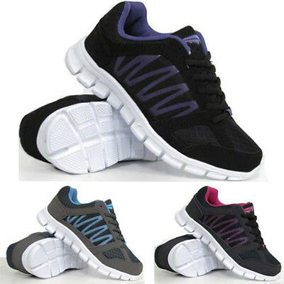 Señoras corriendo formadores para mujer de absorción de choque Deportes Caminar Fitness Gimnasio Zapatos