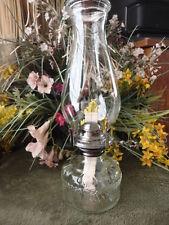 Kerosene Oil Lamp  Made in Hong Kong 1970's 12-1/2 in Tall Font Style Vintage