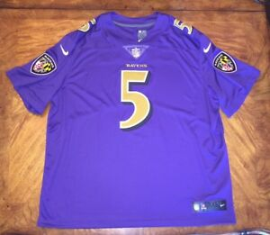 423086d66 Joe Flacco Baltimore Ravens NFL Color Rush Limited Jersey Men s 3XL ...