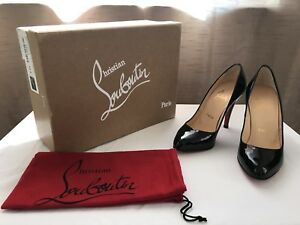 ea755e973d Image is loading CHRISTIAN-LOUBOUTIN-034-Decollete-868-100-Patent-Calf-