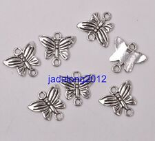 20pcs Tibetan Silver Butterfly Charms Connectors Earring Drops Finding C3082