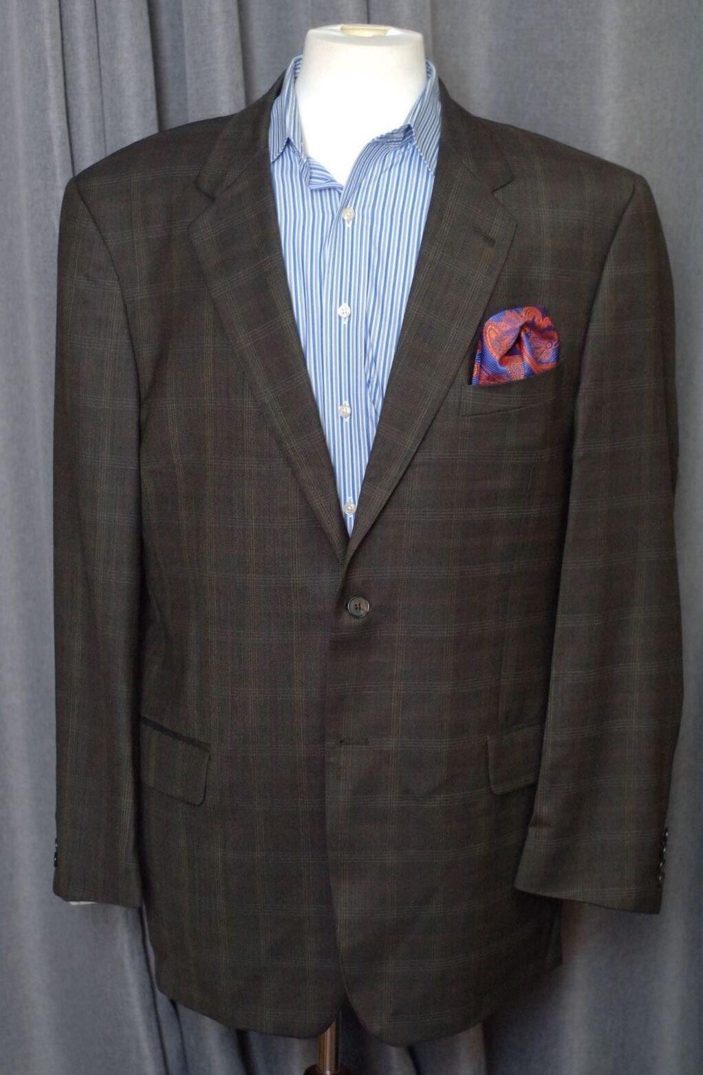 Joseph Abboud Herren Braun Grau Kariert, Wolle Sport Mantel Blazer 44l 44     | Sale Online Shop  | Komfort  | Moderne Technologie