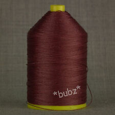 BONDED NYLON THREAD 40s 650metre WINE RED 40 TKT LEATHER REPAIR UPHOLSTERY DARK