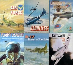 Avalon-Hill-Air-Combat-6-Game-Collection-PDF-Reference-DVD-inc-B-17-amp-Air-Force