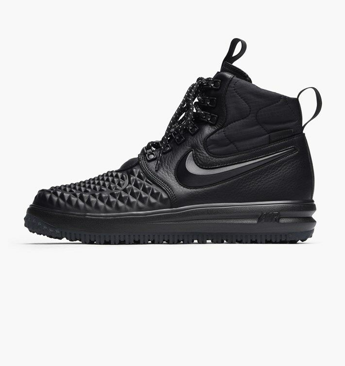New Nike Men's Lunar Force 1 Duckboot '17 (916682-002)  Black/Anthracite/Black