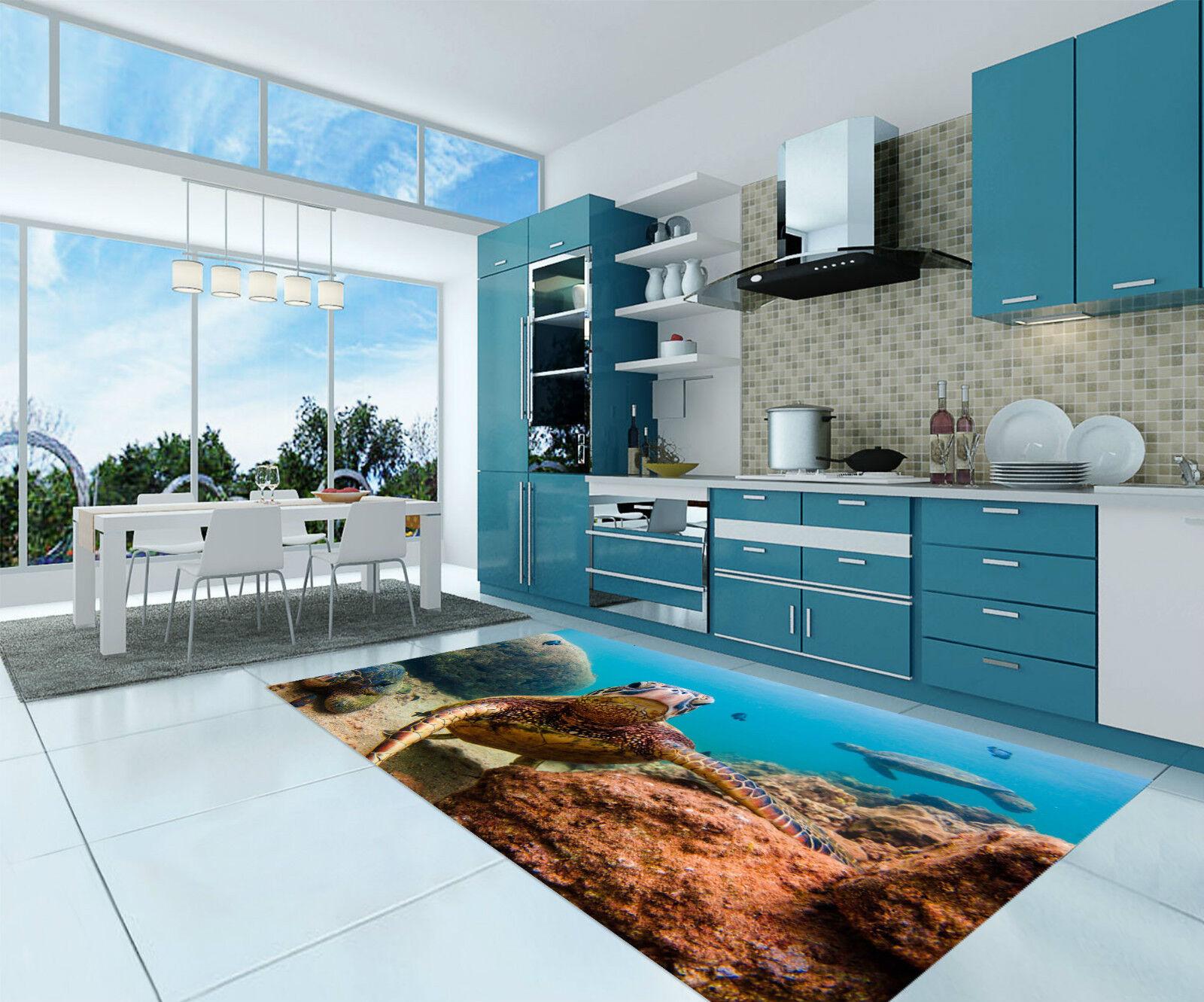 3D Fond Marin Tortoise 370 Décor Mural Murale De Mur De Cuisine AJ WALLPAPER FR