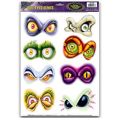 Evil Eyes Clings Sheet Halloween Decoration