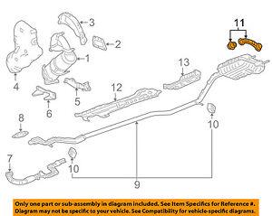 23275820 Chevrolet GM OEM 16-18 Volt 1.5L-L4 Exhaust-Muffler /& Pipe Rear Bracket