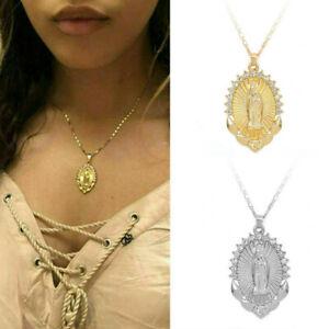 Women-Virgin-Mary-Pendant-Necklace-Overlay-Religious-Catholic-Jewelry-Gift-CN49
